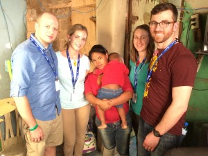 Another moving home visit, this time to the home of a Child Survival Program participant