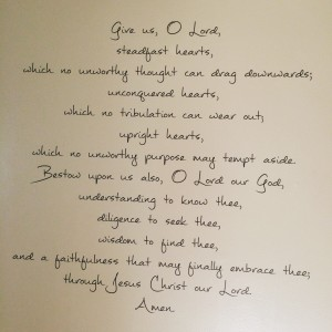 The prayer for our wall in Lethbridge (which we also pluralized)